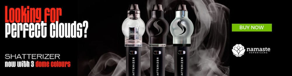 The New Shatterizer Silver and Black Concentrate Vape Pen