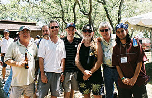 Steve Lach, Dan Viets, Allen St. Pierre, Kris Krane, Willie Nelson, Keith Stroup, and Paul Armentano at 2005 NORML Golf Benefit